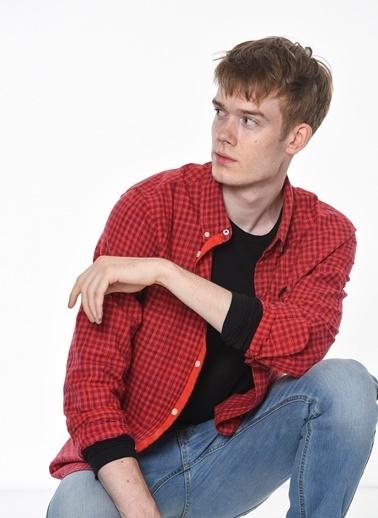 Oxford Yaka Kareli Uzun Kollu Gömlek-Lee